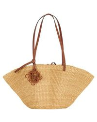 Loewe Paula's Ibiza - Small Shell Basket Bag - Multicolour