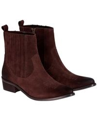 Momoní Vulcano Ankle Boots In Leather - Brown