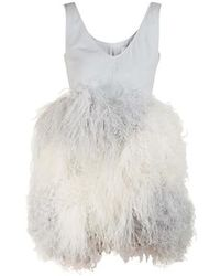 Patou Feather Dress - Multicolour