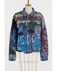 Balenciaga - Graffiti Denim Jacket - Lyst