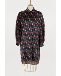 Fendi - Long-sleeved Silk Satin Dress - Lyst