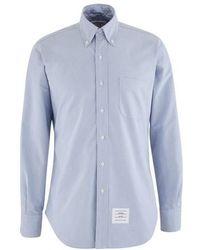 Thom Browne Cotton Shirt - Blue