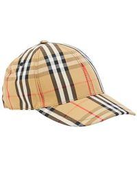 Burberry Chk Baseball Cap - Multicolour