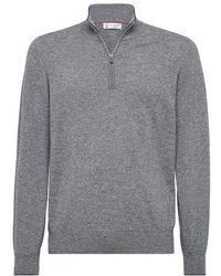Brunello Cucinelli Cashmere Sweater - Grey