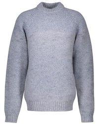 Marni Rundhalspullover aus Wolle - Blau
