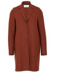 Harris Wharf London Manteau Cocoon en laine pressée - Multicolore