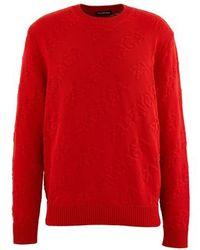 Balenciaga Round Neck Jumper - Red