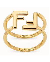 Fendi Maxi Ff Earrings - Metallic