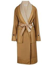Loewe Lined Coat - Natural