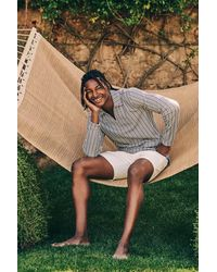 Orlebar Brown Lincoln Ls Fine Stripe Sweatshirt - Multicolour