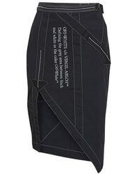 Off-White c/o Virgil Abloh Parachute Skirt - Black