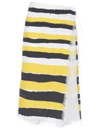 Marni Wrap-around Skirt - Yellow