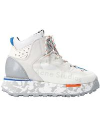 Acne Studios Panelled Trekking Boots - White