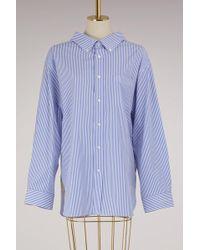 Balenciaga - Swing Collar Oversized Shirt - Lyst