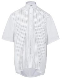 Givenchy Stripe Pocket Short Sleeve Shirt - White