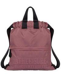Alberta Ferretti Track Bagback - Purple