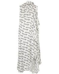 Balenciaga Stola Long Printed Dress - Multicolour