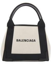 Balenciaga Navy Cabas Xs Bag - Black