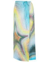Acne Studios Ishi Linen Skirt - Blue