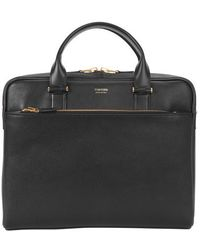 Tom Ford Slim Medium Briefcase - Black