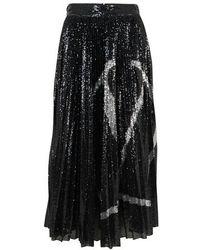 Valentino Jersey Skirt - Black