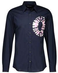 Dries Van Noten Corbin Place Pattern Shirt - Blue
