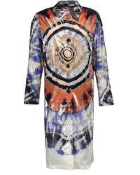 Dries Van Noten Tie-dye Print Coat - Multicolor