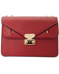 Fendi Bad Bugs Ff Foldover Detail Shoulder Bag - Red