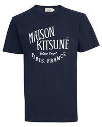 Maison Kitsuné Palais Royal T-shirt - Blue