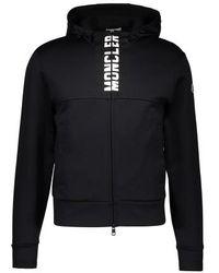 Moncler Maglia Logo Cardigan - Black