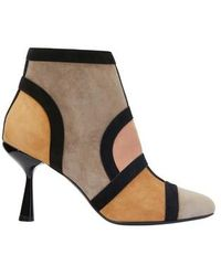 Pierre Hardy 'frame' Suede Patchwork Ankle Boots - Multicolor