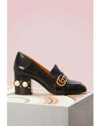 Gucci - Leather Mid-heel Loafer - Lyst