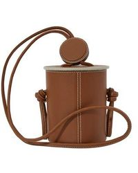 Yuzefi Cubito Mini Bucket Bag - Brown