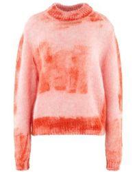 Roseanna Round-neck Sweatshirt - Orange