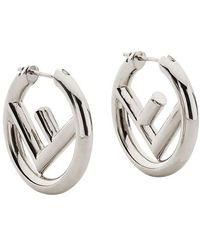 Fendi F Is Earrings - Grey