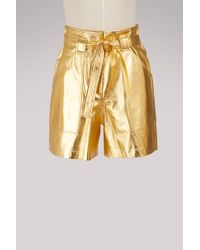 Vanessa Seward Frida Leather Shorts - Multicolor