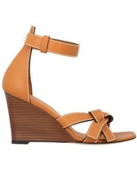 Loewe Gate Wedge Sandals - Brown