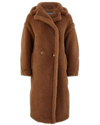 Max Mara Teddy Camel Wool Coat - Brown