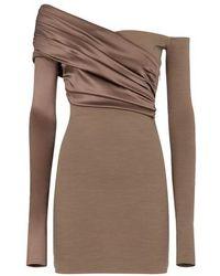 Fendi Brown Jersey Dress