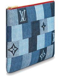 Louis Vuitton City Pouch - Blau