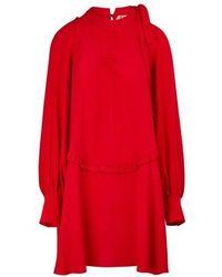 N°21 Silk-blend Dress - Red