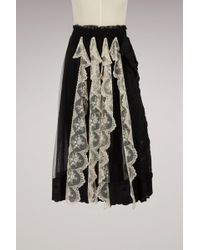 Simone Rocha - Lace Trim Pleated Skirt - Lyst