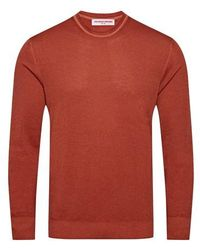 Orlebar Brown Pull Hutchison LS - Rouge