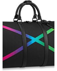 Louis Vuitton Keepall 50 mit Schulterriemen - Schwarz