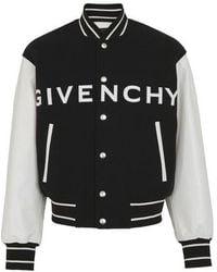 Givenchy Veste varsity à logo - Noir