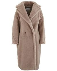 Max Mara Teddy Wool And Alpaca Coat - Natural