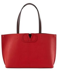 Valentino Cabas à logo petit modèle Garavani - Rouge