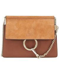 Chloé Faye Mini Chain Bag - Brown