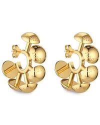 Louis Vuitton Studdy Hoop Earrings Mm - Metallic