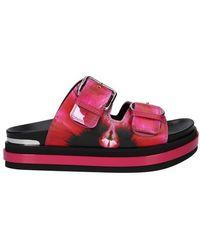 Alexander McQueen Oversize Sandals - Red